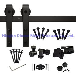 Free shipping Dimon DM-SDU 7201 America style hot sell cheap wooden sliding barn door hardware without sliding track