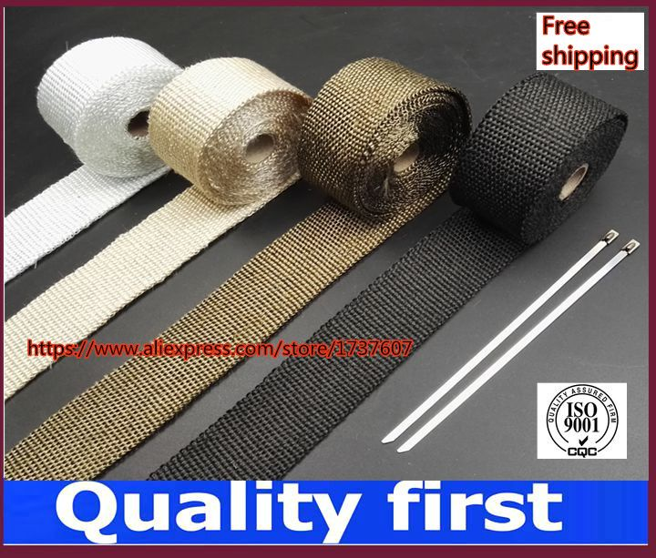 5M and 10M  Motorcycles Exhaust Header Pipe Wrap Heat Manifold Insulation Cloth Roll With 3 color optional