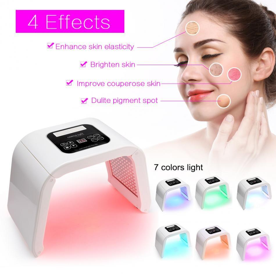 7 farbe LED photon licht therapie Schönheit maschine PDT lampe behandlung haut Regeneration Straffen Gesichts Akne Remover Anti-falten spa