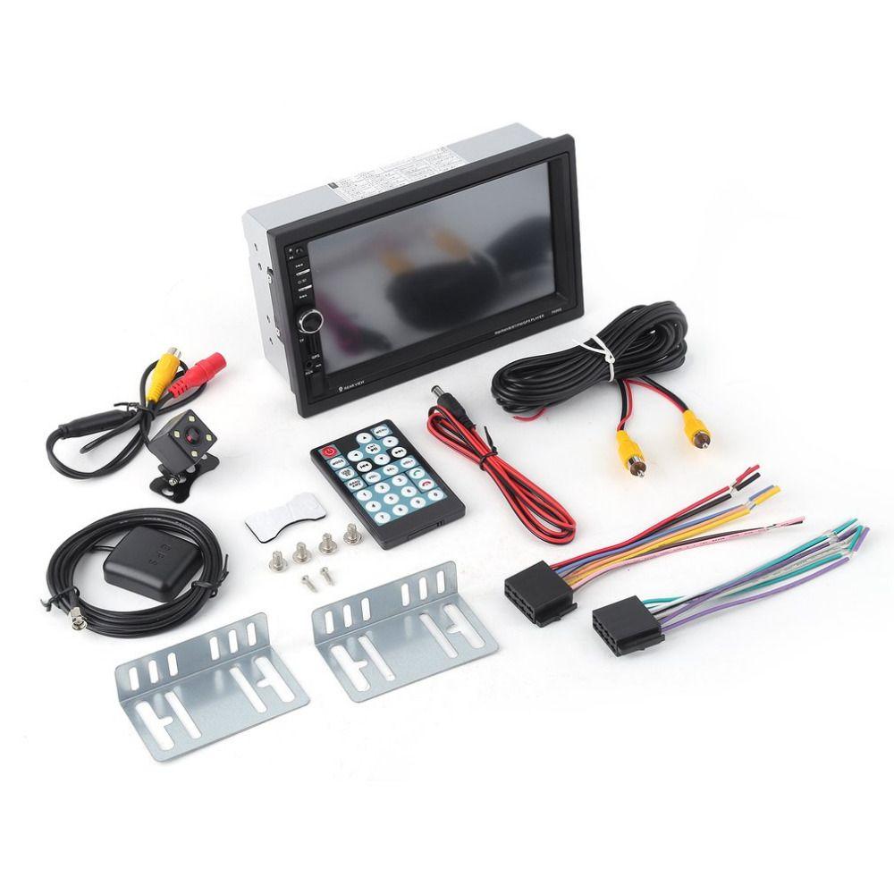 7 дюймов Сенсорный экран автомобиля аудио стерео Bluetooth MP5 плеер с заднего вида Камера GPS навигации fm Функция и Дистанционное управление