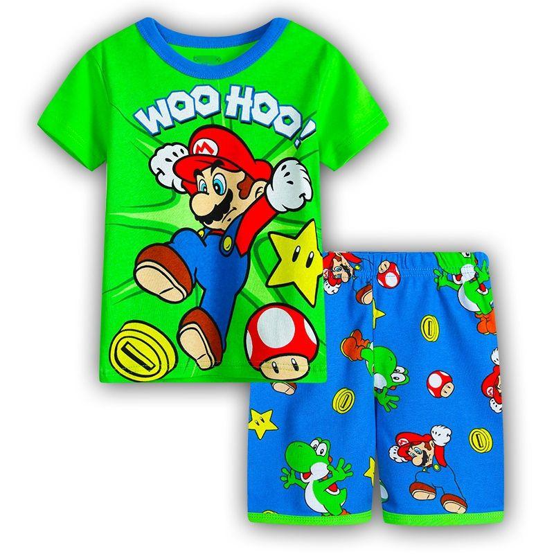 Garçons filles Pijamas enfants ensemble Enfant vêtements de nuit enfants Pyjamas ensembles de vêtements enfants Pyjamas 2-7 ans été dessin animé Pyjamas