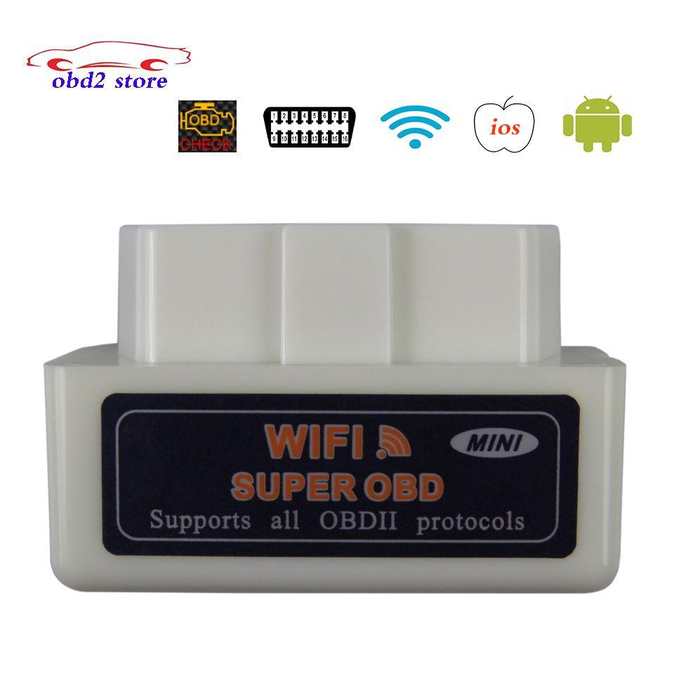 Scanner de Diagnostic de voiture superbe ELM327 WIFI OBD2 V1.5 ELM 327 V 1.5 pour IOS Android Elm-327 WI-FI OBDII OBD 2 outil de Diagnostic automatique