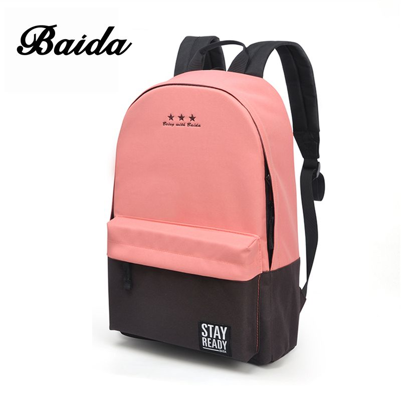 Fashion Backpack Women Leisure Back Pack Korean <font><b>Ladies</b></font> Knapsack Casual Travel Bags for School Teenage Girls Classic Bagpack