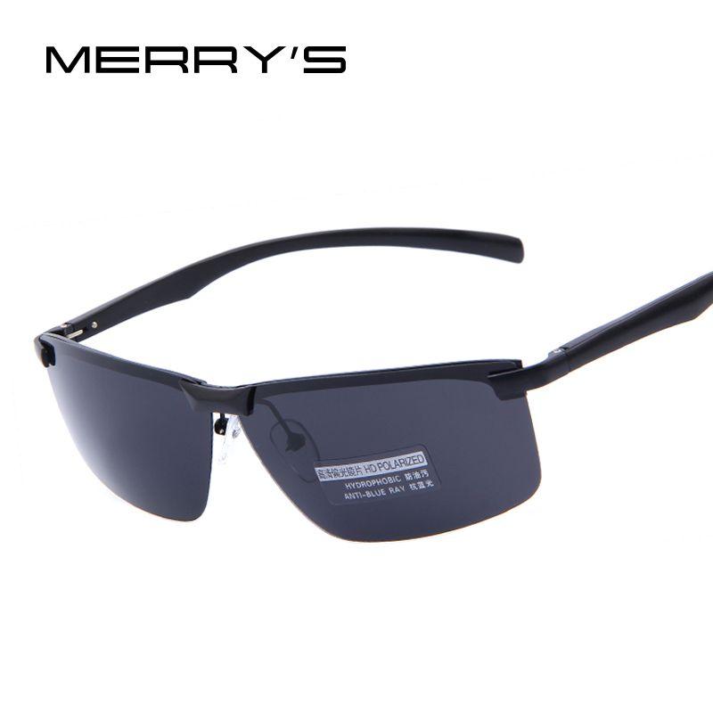 Feliz hombres 100% HD polarizada visión nocturna de conducción Gafas de sol polarizadas de los hombres a estrenar Gafas de sol alta calidad con el caso original