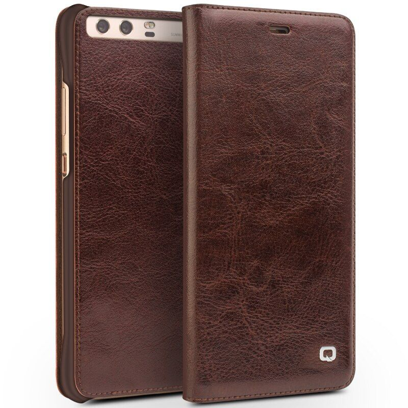 QIALINO für Huawei Ascend P10 Fall Luxus Echte echtem Leder Flip Fall Für Huawei P10 Plus Flip Abdeckung Volle Schutzhülle fall