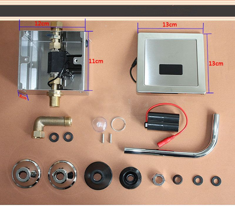 Edelstahl Automatische Wc Flush Ventil Sensor Sanitärkeramik Arbeit Mit 4 stücke AA batterie