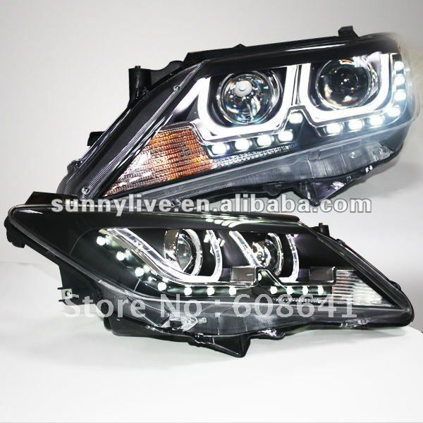 For TOYOTA 2012-13 year Aurion Camry LED U Type Angel Eyes Headlight TLZ V1