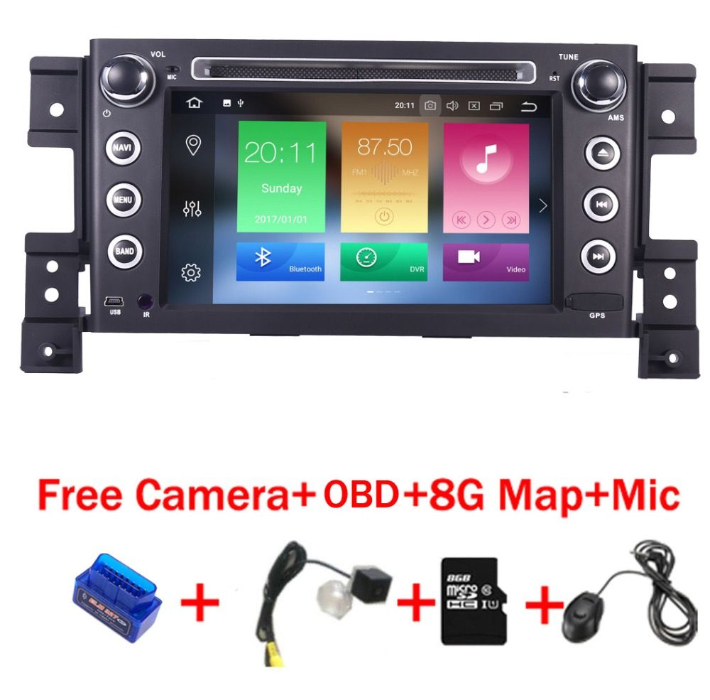 4G+32G 8 Core Android 8.1 car radio multimedia player for Suzuki grand vitara dvd gps with steering wheel Wifi 4G OBD BT SD Map