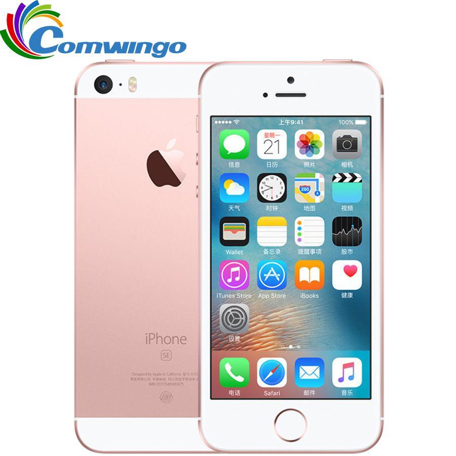 Débloqué Original Apple iPhone SE Cellulaire Téléphone 4G LTE 4.0» 2 GB RAM 16/64 GB ROM A9 Dual-core Tactile ID Mobile Téléphone Utilisé iphonese