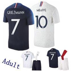 2018 19 Nouveau Top qualité adulte Français jersey chemise Casual chemises 18 19 T chemises Qualité Casual Taille S-XL