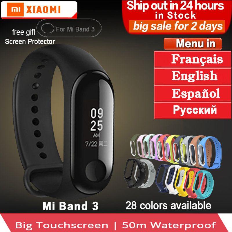Original Xiaomi mi Band 3 2 miband 3 Waterproof Smart Bracelet band Heart Rate Pulse Xiaomi Miband 3 OLED xiaomi mi 3 Wristband