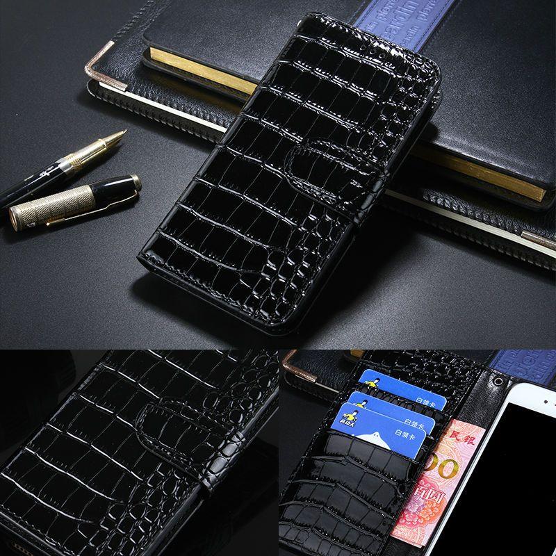 Crocodile de luxe En Cuir Flip Cas de Couverture pour LG K8 Portefeuille Téléphone sac Coque Avec Porte-Cartes pour LG K8 Fundas Cas avec Botton