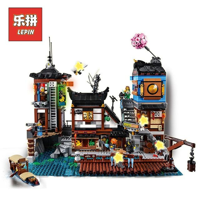 Lepin 06083 The City Docks Set 3979Pcs Building Series 70657 Buidling Blocks Bricks Assemblage Toys Collectable Kids Gift Model