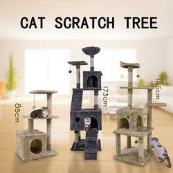 Gato doméstico muebles para mascotas gato juguete arañazos de madera Casa de juguete gato saltando juguete escalada marco rascador Post