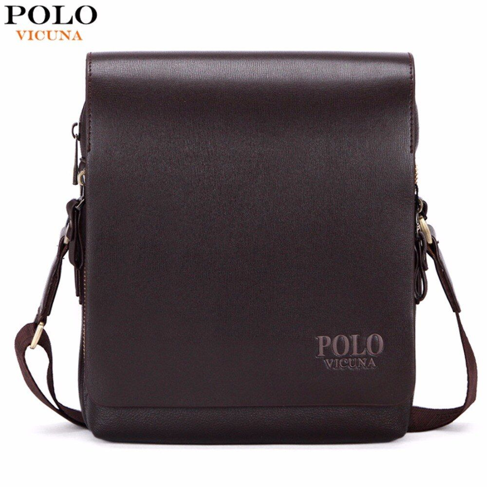 VICUNA POLO New Arrival Fashion Business Leather Men Messenger Bags <font><b>Promotional</b></font> Small Crossbody Shoulder Bag Casual Man Bag