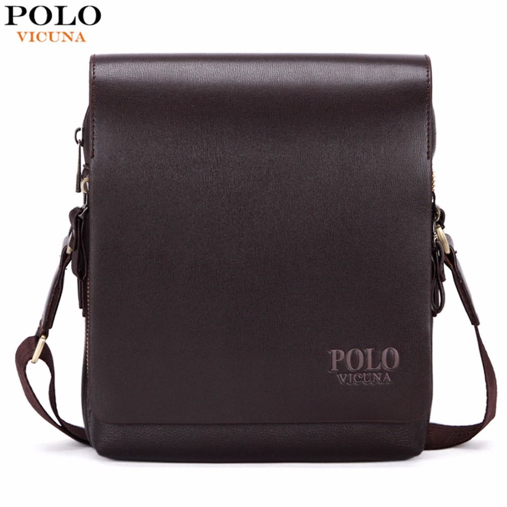 VICUNA POLO New <font><b>Arrival</b></font> Fashion Business Leather Men Messenger Bags Promotional Small Crossbody Shoulder Bag Casual Man Bag