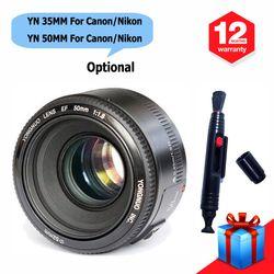 Yongnuo YN35mm F2.0 lente, YN50mm F1.8 lente para Nikon F montaje D5300 D5200 D5100 D3200 D600 para Canon 600D 70D DSLR Cámara + regalo
