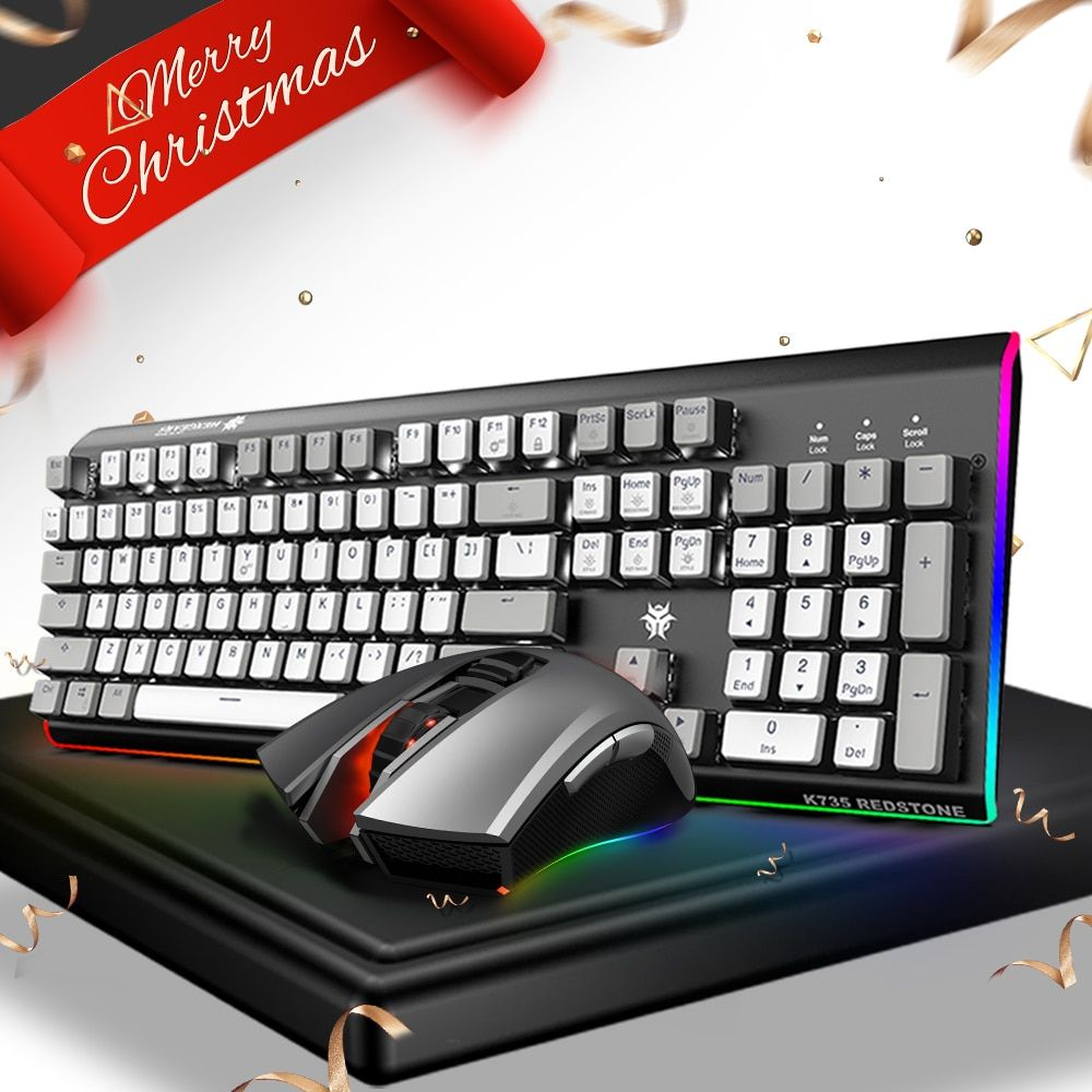 HEXGEARS PUBG Keyboard Mouse Combo Mechanical Keyboard Kailh Switch Backlight Backlit RGB Gaming Macro PC Gamer Mouse Keyboard