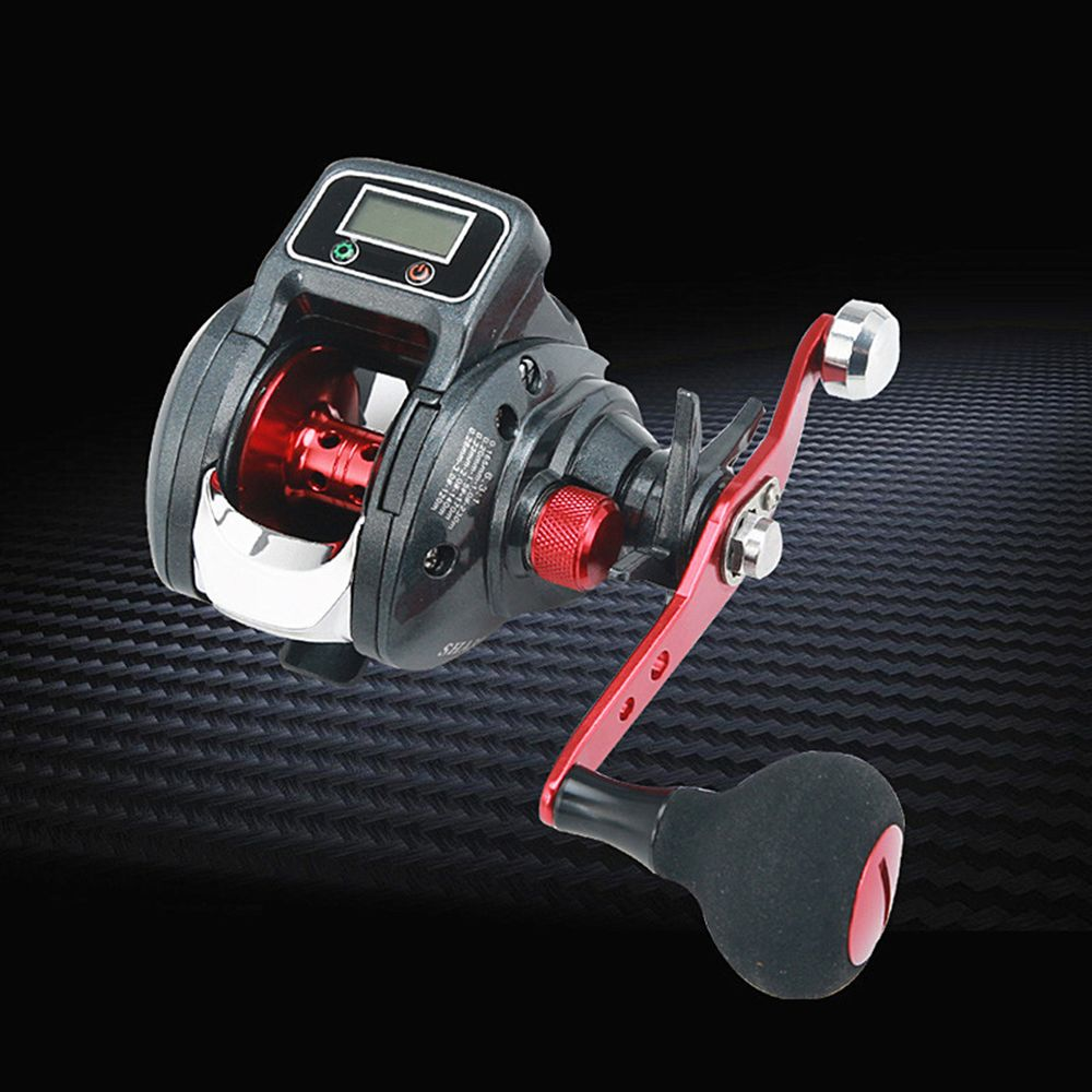 Fishing Reel 6kg Drag 6.2:1 Electronic Digital Display Fishing Reel 13+1 Ball Bearing Casting Fishing Line Counter Reel X24