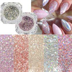 1Box Platinum Shiny Nail Glitter Powder Laser Sparkly Diamond Manicure Nail Art Chrome Pigment DIY Nail Art Decoration LABG01-26