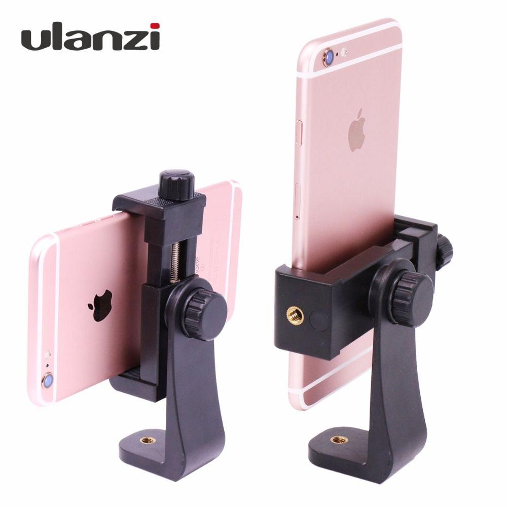 Ulanzi Universal Tourné Trépied Mount Holder Stand Support Clip de Montage pour iPhone Samsung Meizu Xiaomi Huawei smartphone 3 couleurs