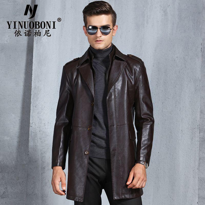 Männer der Motorrad Echt Leder Jacke Windjacke Winter Plus Samt Warmen Mantel Männlichen Echtem Leder Windjacke Jacke LJ8155