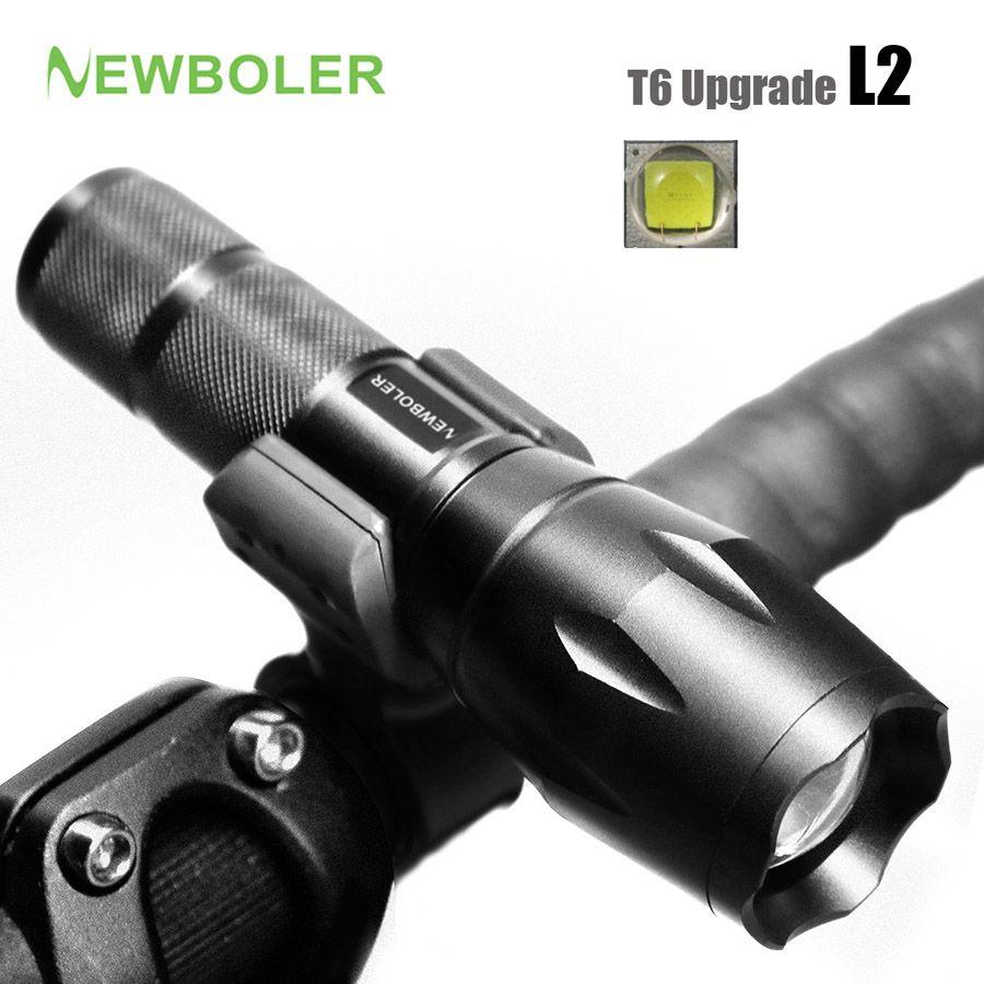 NEWBOLER Bicycle Light 5 Mode XM-L2 LED Bike Light Front Torch + Holder Waterproof 3800 Lumens Led Rechargeable Flashlights USB