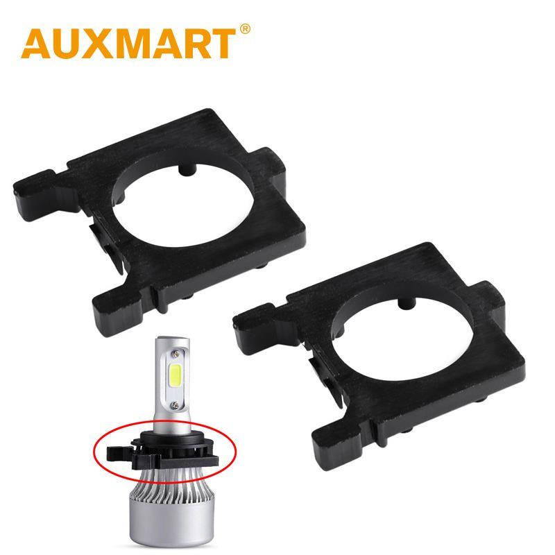 Auxmart for Ford Focus H7 LED Holder Adapter Socket Car Headlight Bulb H7 Adaptor LED Headlamp Bulbs Adapter H 7 Light Auto