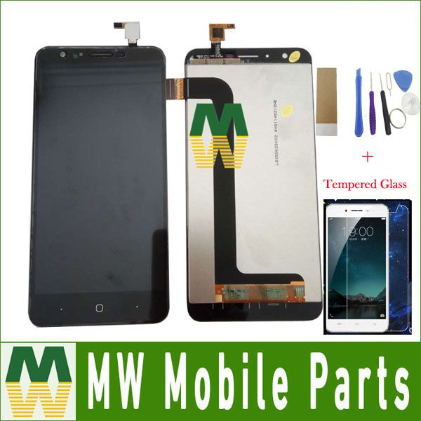 1PC/Lot For Doogee Y6 Y6C Display+Touch Screen Digitizer Assembly Replacement Black White Color With Free Kit