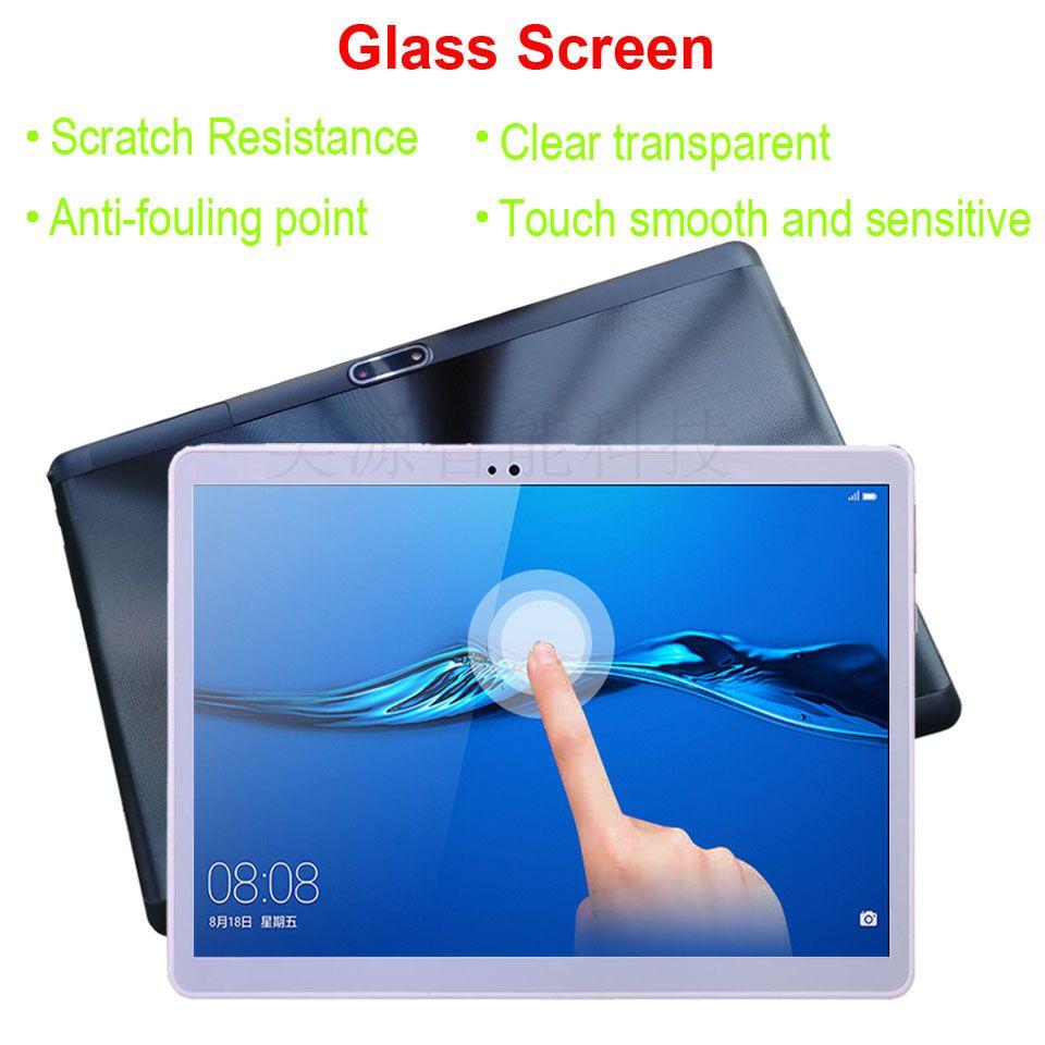 4G LTE tablettes 10.1 pouces Octa Core 3G appel téléphonique 4GB RAM 64GB ROM IPS 2.5D verre écran tactile 1920*1200 Android 8.1 tablette pc