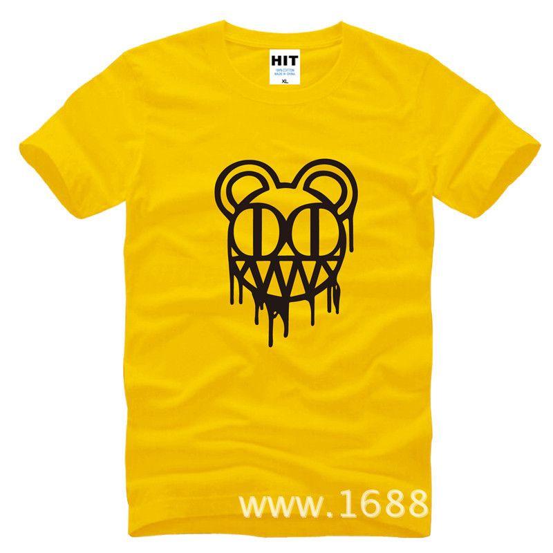 Radiohead rock band hommes T Shirt mode 2015 nouveau T-shirt à manches courtes col rond en coton T-shirt Camisetas Hombre