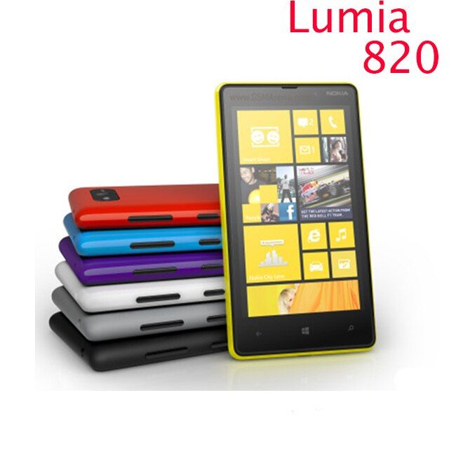 820 Original Nokia Lumia 820 phone GSM 3G 4G 4.3'' Touch 8GB Storage NFC Wifi GPS 8MP Camera Unlocked Windows Cell Phone