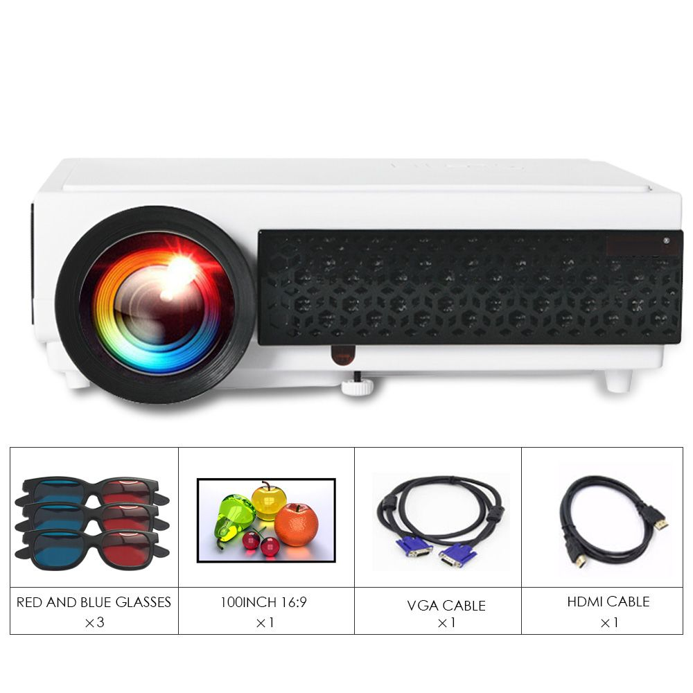 BIG SALE!! ClEARANCE! Poner Saund LED96+WIFI Projector 3D Home Theatre Android Support 1080P Set in HDMI VGA USB Business Beamer