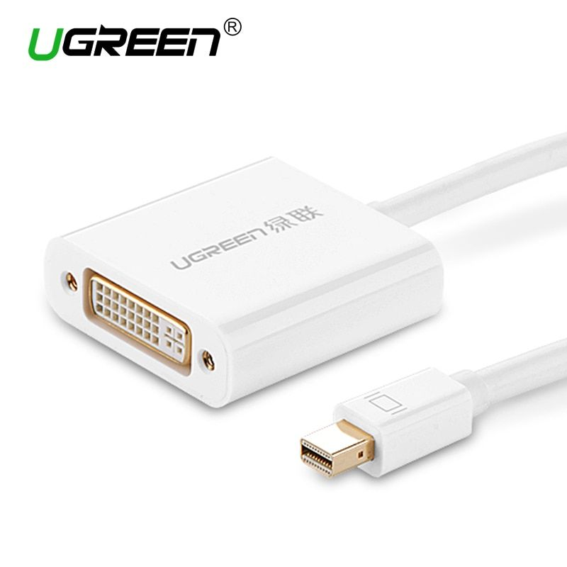 Ugreen Thunderbolt 1/2 Mini Displayport to DVI 24+5 Converter Mini Dp Male to DVI-i Female Adapter Cable for MacBook/Pro/Air /TV