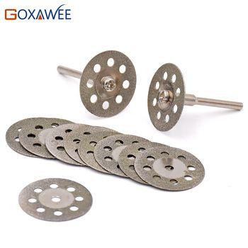 25mm Dremel Accessoires diamant meule 10 pcs mini scie circulaire coupe disque Diamant disque Abrasif Dremel outil rotatif