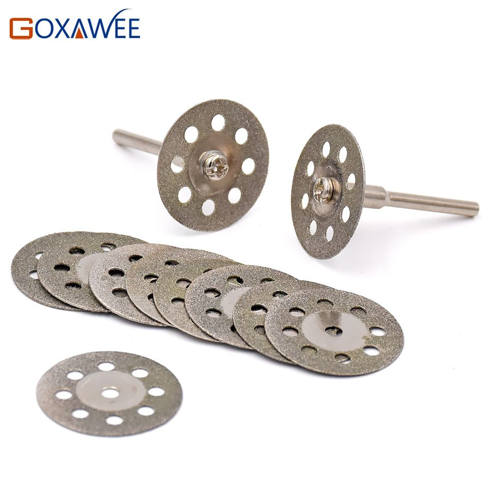 25mm Dremel Accessories diamond grinding wheel 10pcs mini circular saw cutting disc Diamond Abrasive disc Dremel rotary tool