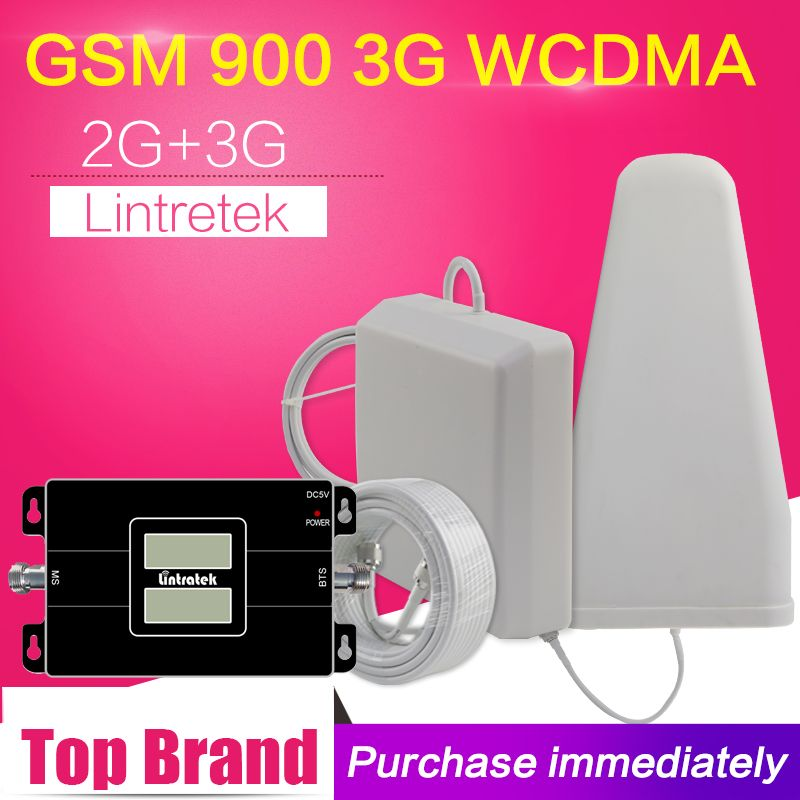 500 Square Meters 2G 3G GSM 900 WCDMA 2100 Dual Band Mobile Phone Signal Repeater GSM 3G UMTS Cellular Booster Amplifier Antenna