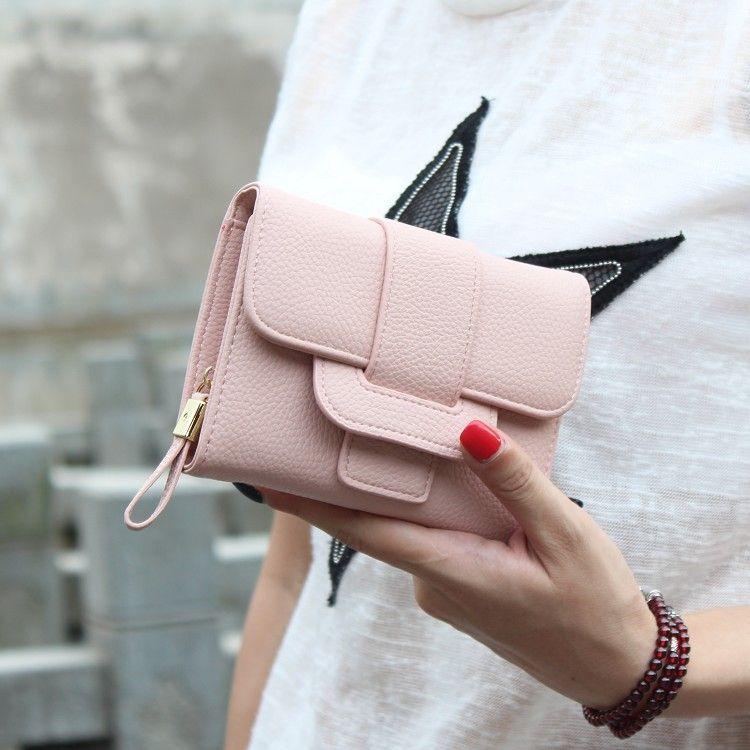 Nouveau luxe souple PU cuir femmes Hasp portefeuille mode Tri-plis embrayage pour filles porte-monnaie porte-cartes femme sac à main argent sac