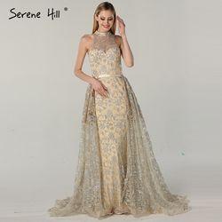 Lange Kristall Mermaid Formale Abendkleider Prom Party Kleid Kleid Mode Mit Zug Abendkleider 2019 BLA6085