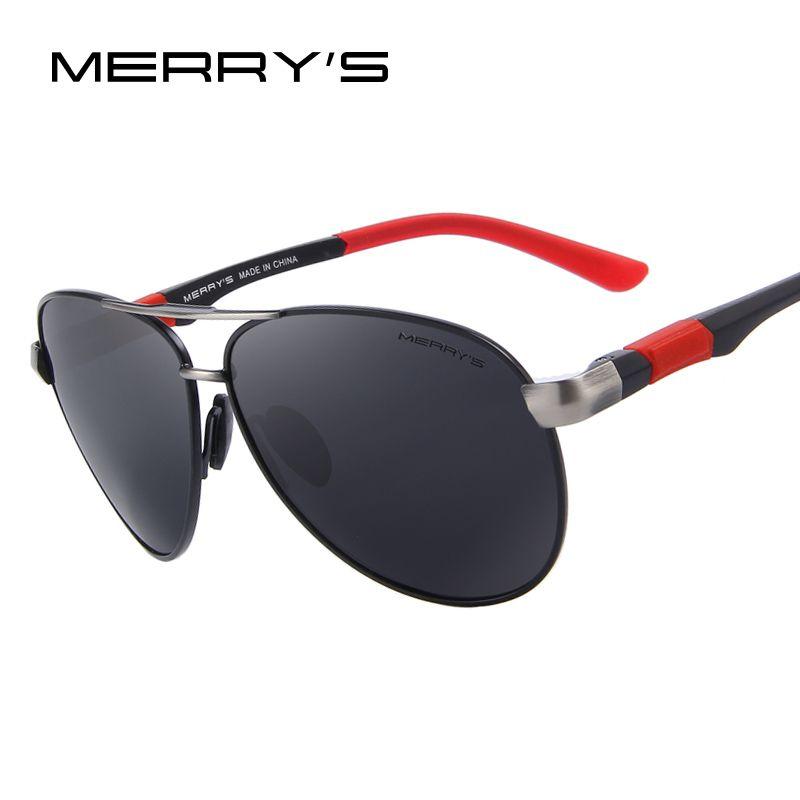 MERRY'S Mode Hommes Marque lunettes de Soleil HD Polarisées Lunettes Hommes lunettes de Soleil Polarisées de Haute Qualité Avec la Boîte D'origine S'404
