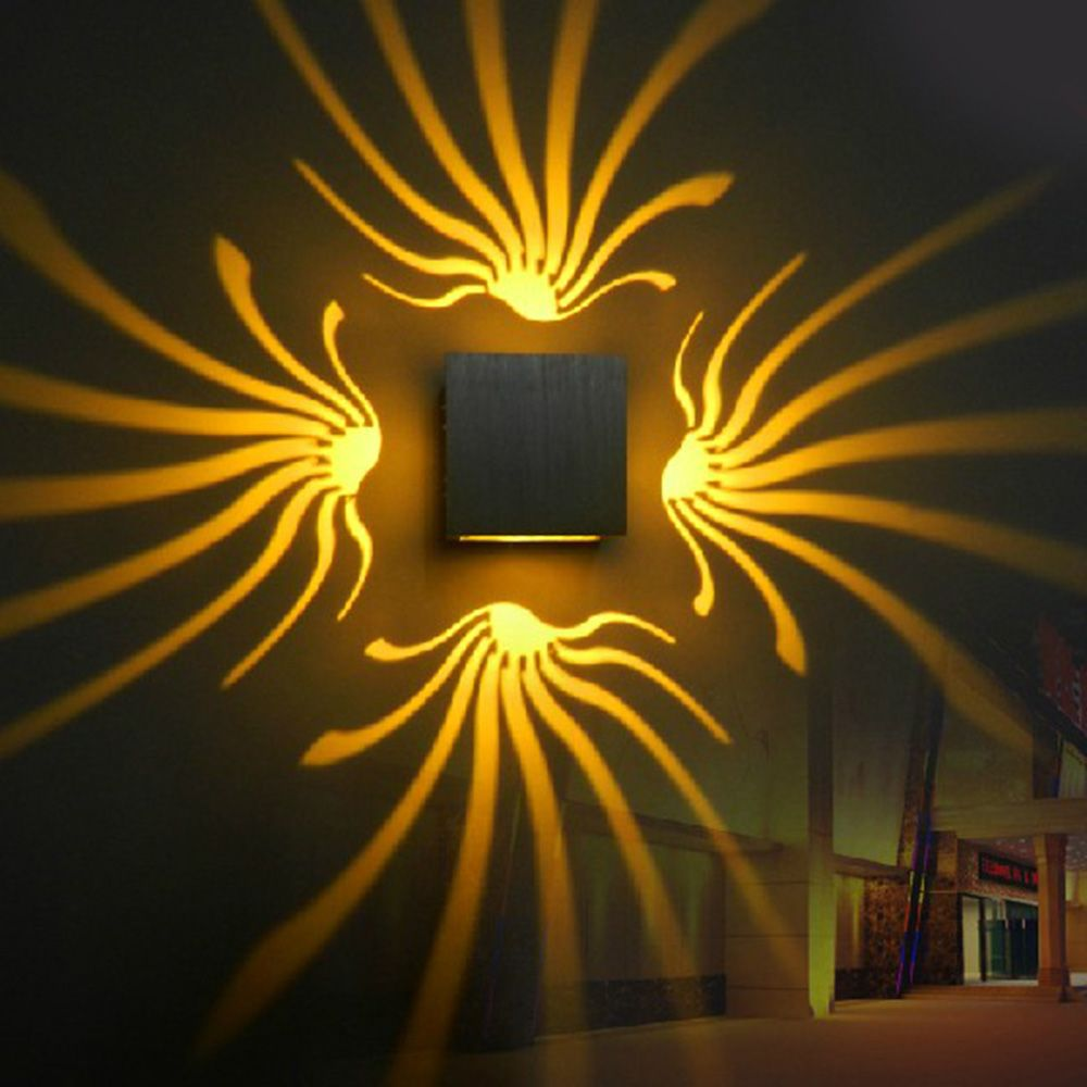 Tanbaby Modern led wall Light Aluminum wall sconce 3W AC85-265V decoration lamp for Aisle Bedroom Corridor Porch KTV BAR