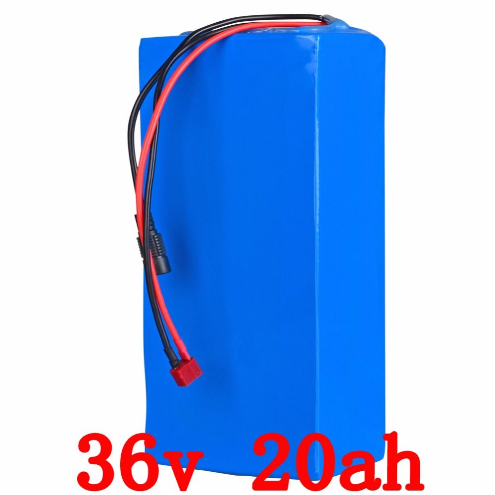 US EU Free Tax 36V Lithium battery 36V 20AH Electric Bike battery 36 V 20ah 1000W Scooter Battery with 30A BMS 42V 2A charger