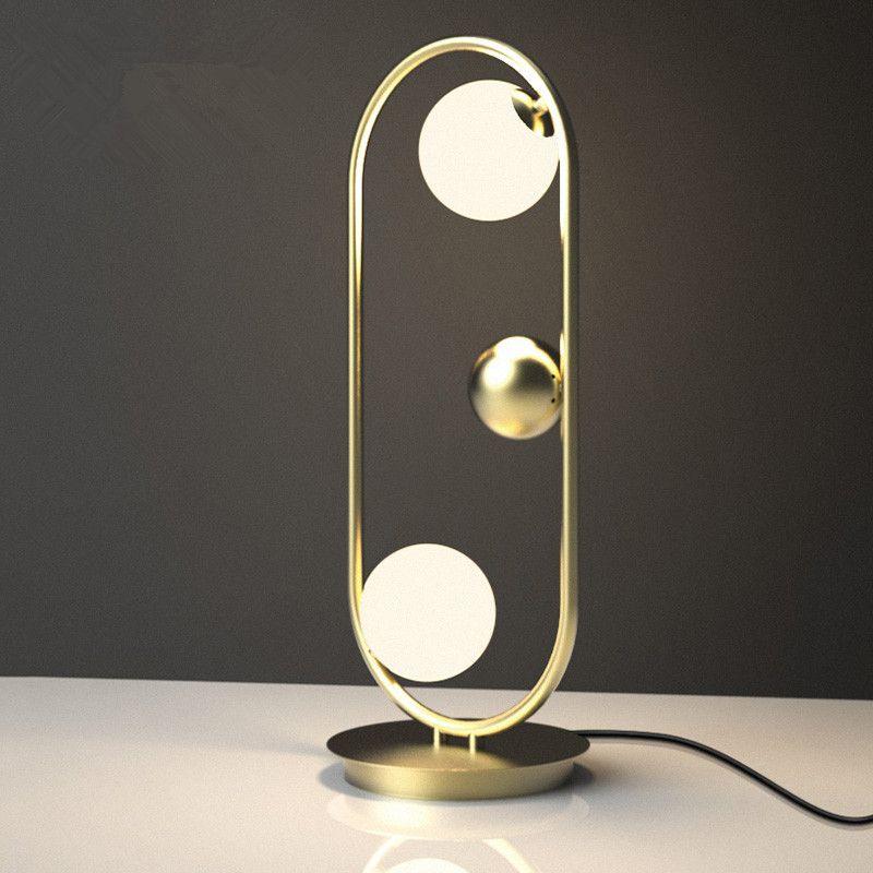 Postmodern Loft Living Room Table Lamp Creative Unique Study Bedroom Studio Hotel Light Led Glass Ball Light Free Sihpping