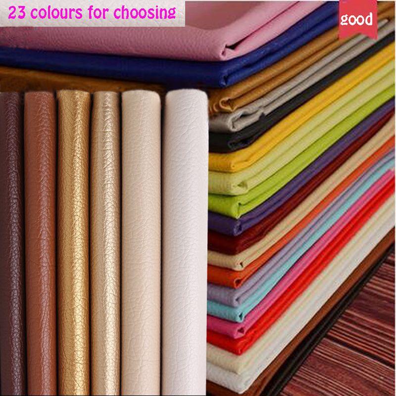 Bon 69*50 cm 1 pc PU En Cuir Faux Cuir Tissu Pour la Couture, artificielle Synthétique Pu Faux Cuir Tissu Pour Canapé Diy Sac Matériel