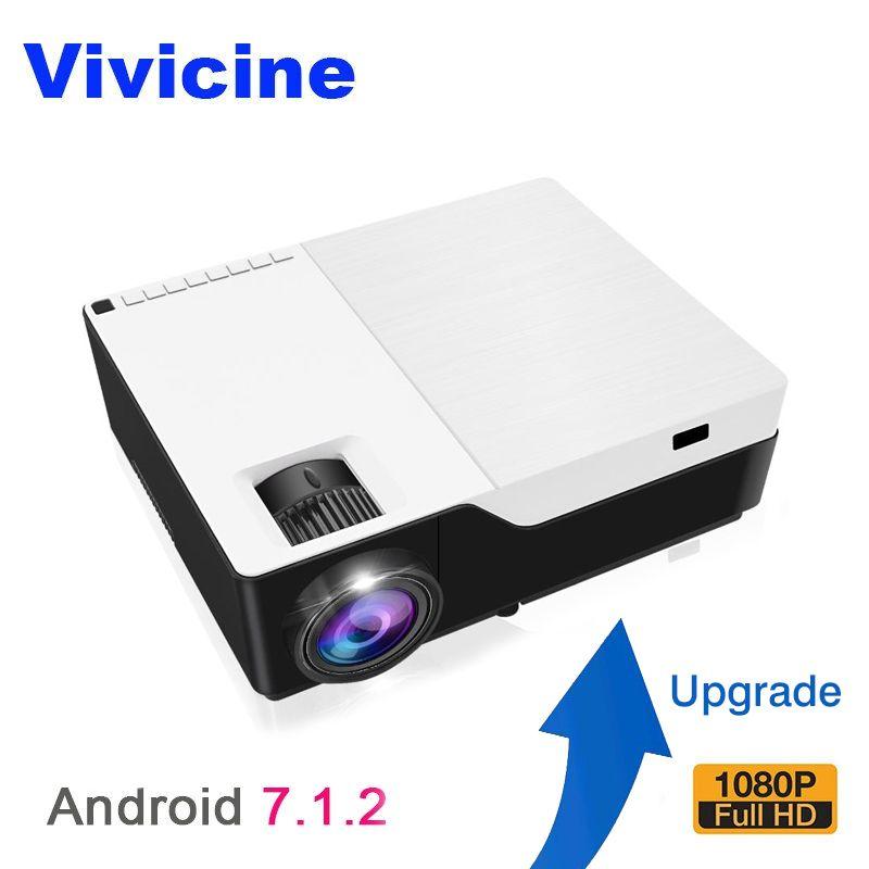 Vivicine M18 Volle HD LED Projektor, optional Android 7.1 HDMI USB PC 1080 p Hause Multimedia Video Spiel Projektor Proyector Beamer