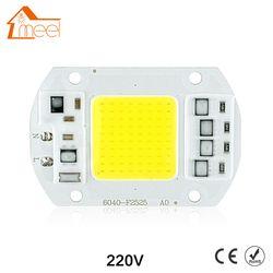 COB LEVOU Chip Lâmpada 10 W 15 W 20 W 30 W 50 W Lâmpada COB LEVOU Lâmpada 220 V IP65 Inteligente IC Motorista Frio/Warm White LED Spotlight Focos