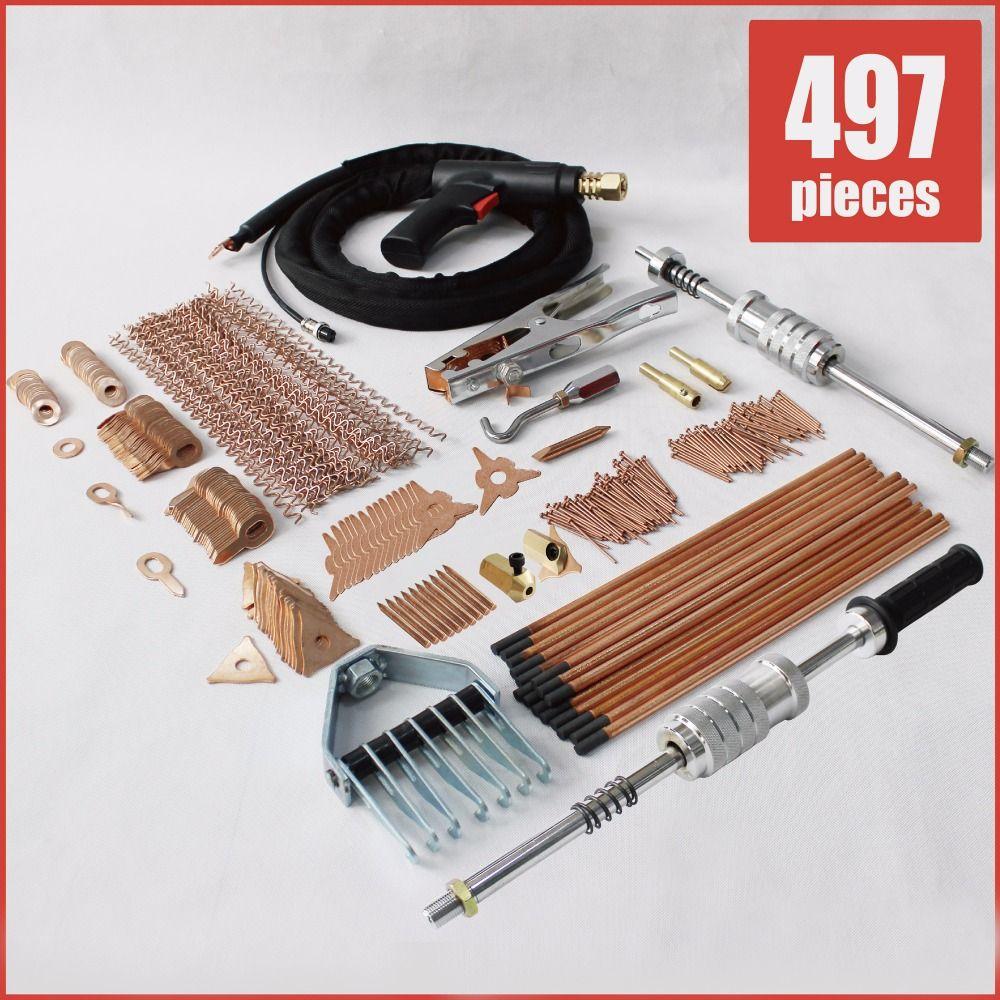 stud welder dent puller kit spot welding dent pulling system auto repair tools starter kit plus uni spotter stinger deluxe set