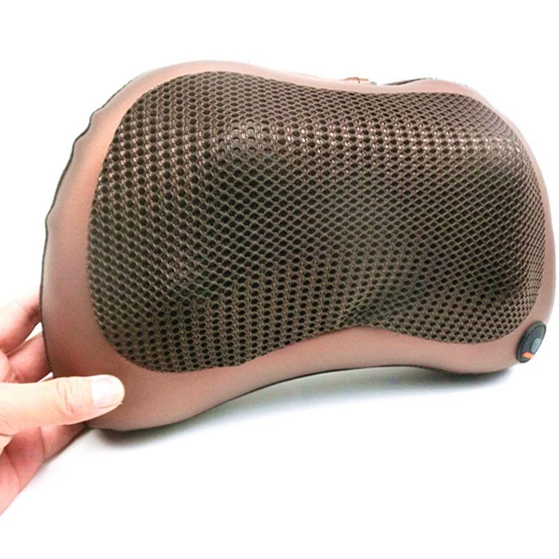 2 en 1 infrarouge voiture maison corps Massage oreiller anti-stress taille cou cervicale traction coussin housse de siège chauffage massage rouleau