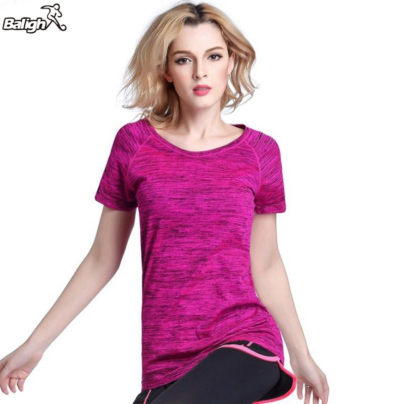 Women Quick Dry Sports T-Shirt Gym Fitness Yoga Workout Short Sleeve Tops