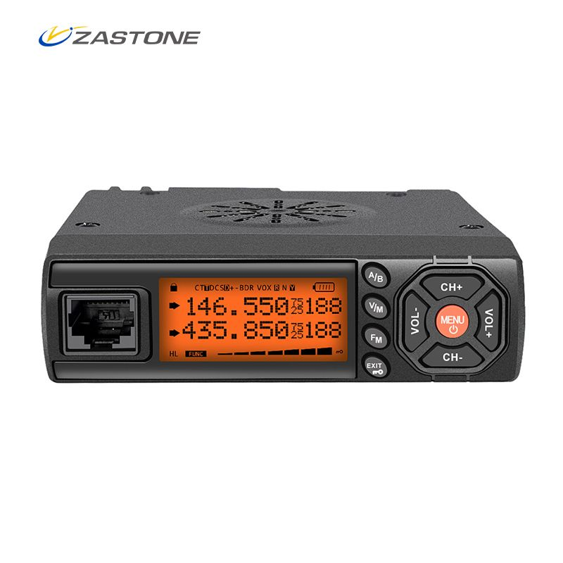 Zastone Z218 Mini Car Walkie Talkie 10KM 25W Dual Band VHF/UHF 136-174mhz 400-470mhz 128CH Mini Mobile Radio Station Transceiver